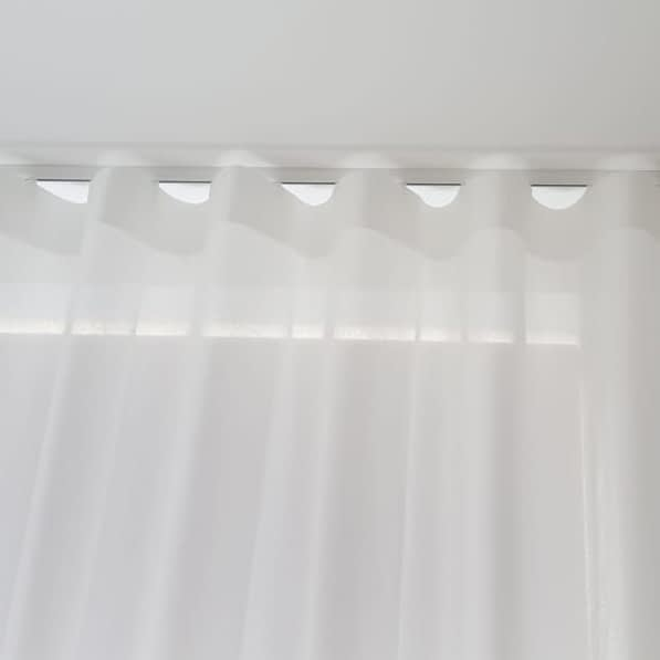 Wave header for Voile Curtains