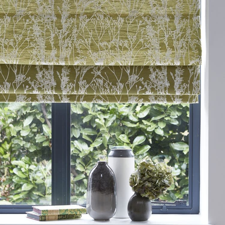 Patterned Roman blinds